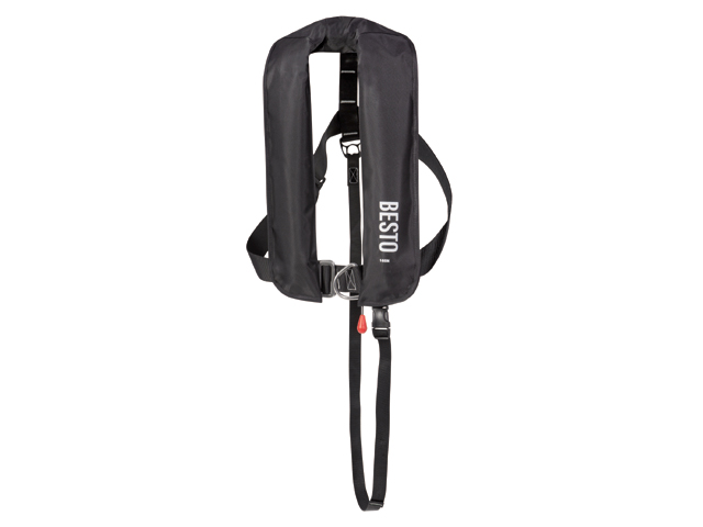 Besto Lifejacket 165N Automatic with harnass Black